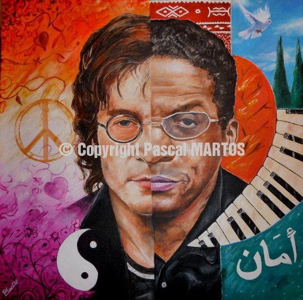 John Lenon Amp Herbie Hancock Pascal Martos Paintings Of Jazz